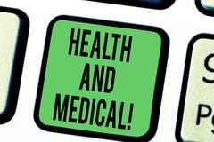 Słowo pisze tekstów zdrowie I Medyczny Biznesowy pojęcie dla warunku organizmu który wykonuje swój funkcje normalnie zdjęcia stock