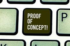 Słowo pisze teksta dowodzie pojęcie Biznesowy pojęcie dla dowodu typowo czerpie od eksperymentu lub projekta klawiatury zdjęcia royalty free