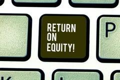 Słowo pisze teksta powrocie Na sprawiedliwości Biznesowy pojęcie dla dochodowość biznesu w związku z wartością udziałowiec fotografia royalty free