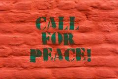 Słowo pisze teksta wezwaniu Dla pokoju Biznesowy pojęcie dla Robić głosowań pokojowy świat Był uspokajający zrelaksowany no walcz royalty ilustracja