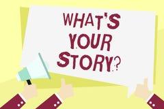 Słowo pisze tekstowi Jaki S Twój Storyquestion Biznesowy pojęcie dla Łączę Komunikuje łączliwość związek ilustracja wektor
