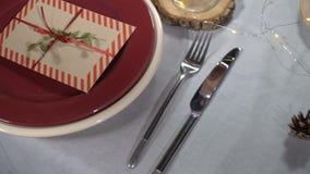 Słuzyć świąteczny boże narodzenie stół zbiory
