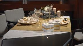 Słuzyć świąteczny boże narodzenie stół zdjęcie wideo