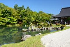 SÅ  gen staw Tenryuji zen buddyjska świątynia Arashiyama kyoto Japonia Zdjęcia Stock