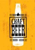 Sålt här grovt baner för hantverk öl Begrepp för design för illustration för vektorhantverkaredryck på bekymrad bakgrund för Grun stock illustrationer
