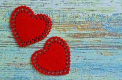 Sång för valentin dag Arkivbild