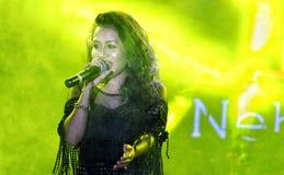 Sångare Neha Kakkar Royaltyfri Bild