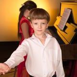 Sångare och pianist Royaltyfri Bild