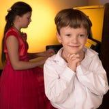 Sångare och pianist Royaltyfria Foton