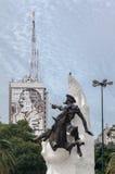 Sångare och universitetslärare Quijote Buenos Aires Fotografering för Bildbyråer