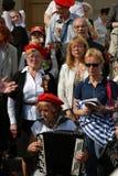 Sånger för folkallsångkrig på teatern kvadrerar i Moskva Royaltyfria Foton