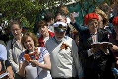 Sånger för folkallsångkrig på teatern kvadrerar i Moskva Fotografering för Bildbyråer