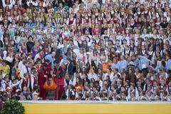Sångfestival Riga latvia Arkivfoton