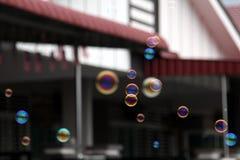 Såpbubblor Fotografering för Bildbyråer