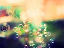 Såpbubblor abstrakt bakgrund Fotografering för Bildbyråer