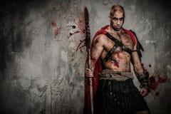 Sårad gladiator royaltyfri foto