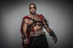 Sårad gladiator royaltyfria bilder