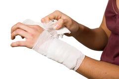 sårad hand Arkivfoton