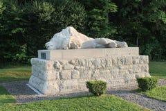 Sårad lejonminnesmärke till försvarare av fortet Souville, strid WW1 av Verdun Royaltyfria Foton