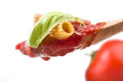 Sås av tomater med maccaronien royaltyfria foton