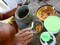 Sås för matlagning och för smaktillsats för thailändsk fet man äldre kryddig havs- Royaltyfria Bilder