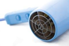 Sèche-cheveux bleu Photographie stock libre de droits