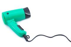 Sèche-cheveux vert compact Photo libre de droits