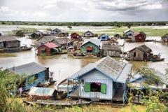 Sève de Tonle, village de flottement Photo stock