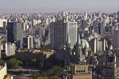 Sé方形区域在São保罗-巴西 免版税库存照片
