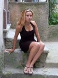 Séance blonde Images libres de droits