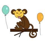 Séance brune drôle de singe Photographie stock libre de droits