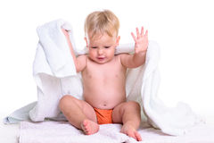 Séance caucasienne de bébé image libre de droits