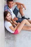 Séance d'adolescent de couples Photo libre de droits