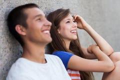 Séance d'adolescent de couples Photographie stock libre de droits