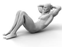 séance d'entraînement abdominale Illustration de Vecteur