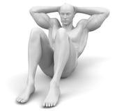 séance d'entraînement abdominale Photo libre de droits
