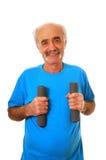 Séance d'entraînement d'homme aîné Image libre de droits
