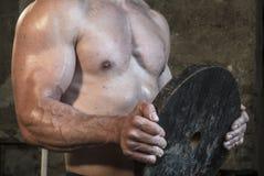 Séance d'entraînement de corps de Fittnes musculaire Photo stock
