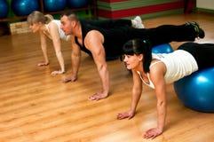 Séance d'entraînement de Pilates Photo stock