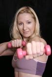 Séance d'entraînement de poids Images libres de droits