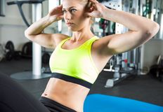 Séance d'entraînement de sport dans le gymnase de forme physique Photos stock