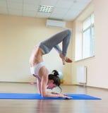 Séance d'entraînement de yoga photo libre de droits