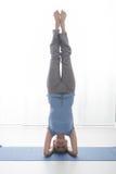 Séance d'entraînement de yoga photos libres de droits