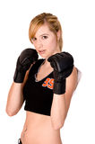 Séance d'entraînement femelle de MMA image libre de droits