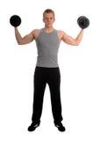 Séance d'entraînement libre de poids Photographie stock libre de droits