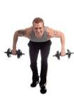 Séance d'entraînement libre de poids image libre de droits