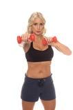 Séance d'entraînement libre de poids de femme image libre de droits