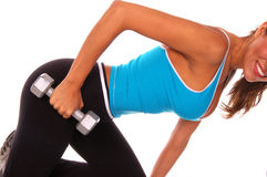 Séance d'entraînement libre sexy de poids Photographie stock libre de droits