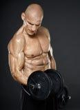 Séance d'entraînement modèle de forme physique Image libre de droits
