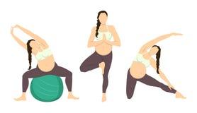 Séance d'entraînement pour enceinte illustration stock